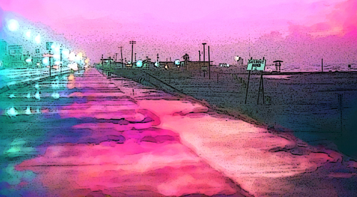 Pink  Dawn in Galveston
