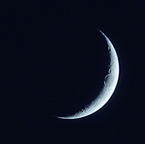 Crescent moon on August 31, 2011.